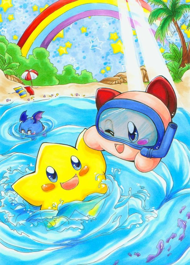 Stafy_And_Kirby_Summerfun_by_Hisui_sama